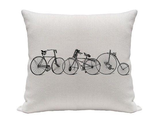 Old Bicycle Pillow Cover Decorative Pillows Throw By Gracioushome Enchanting Gracious Home Decorative Pillows