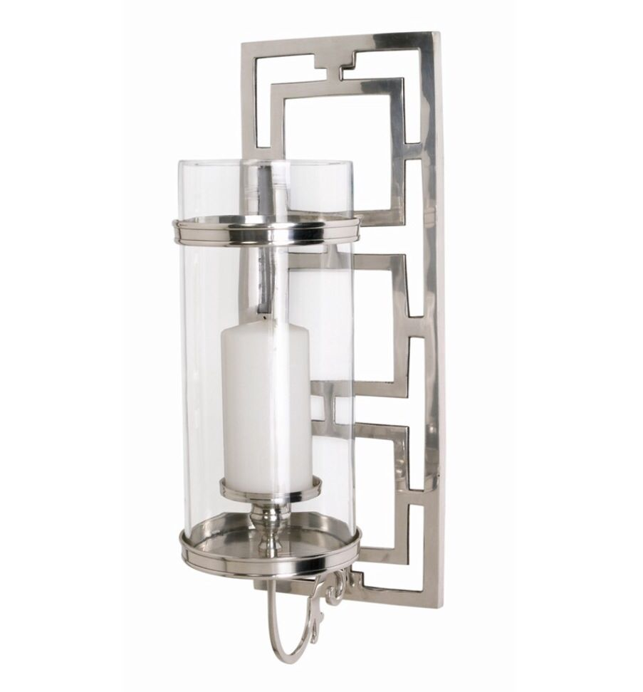 Wilson sconce 23hx8wx10.5d   Candle wall sconces, Polished ... on Decorative Wall Sconces Candle Holders Chrome Nickel id=30258