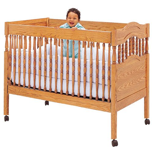 Crib Plan With Fixed Sides, Crib Hardware