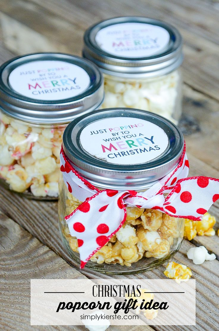 Easy Popcorn Christmas Gift Idea | Popcorn, Christmas gifts and Easy