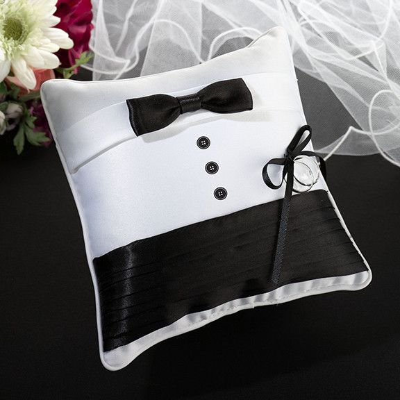 Tuxedo Ring Bearer Pillow