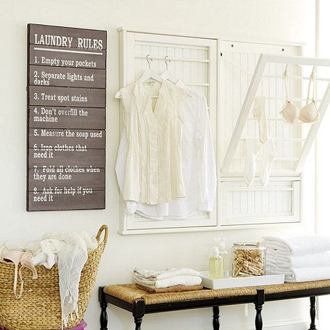 Laundry Room Rules Plaque
