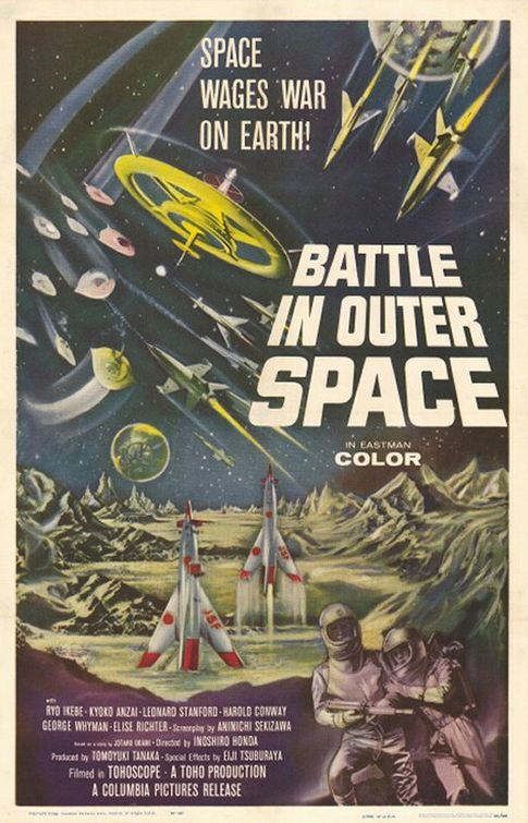Battle In Outer Space Movie Poster This Was A Classic -7299