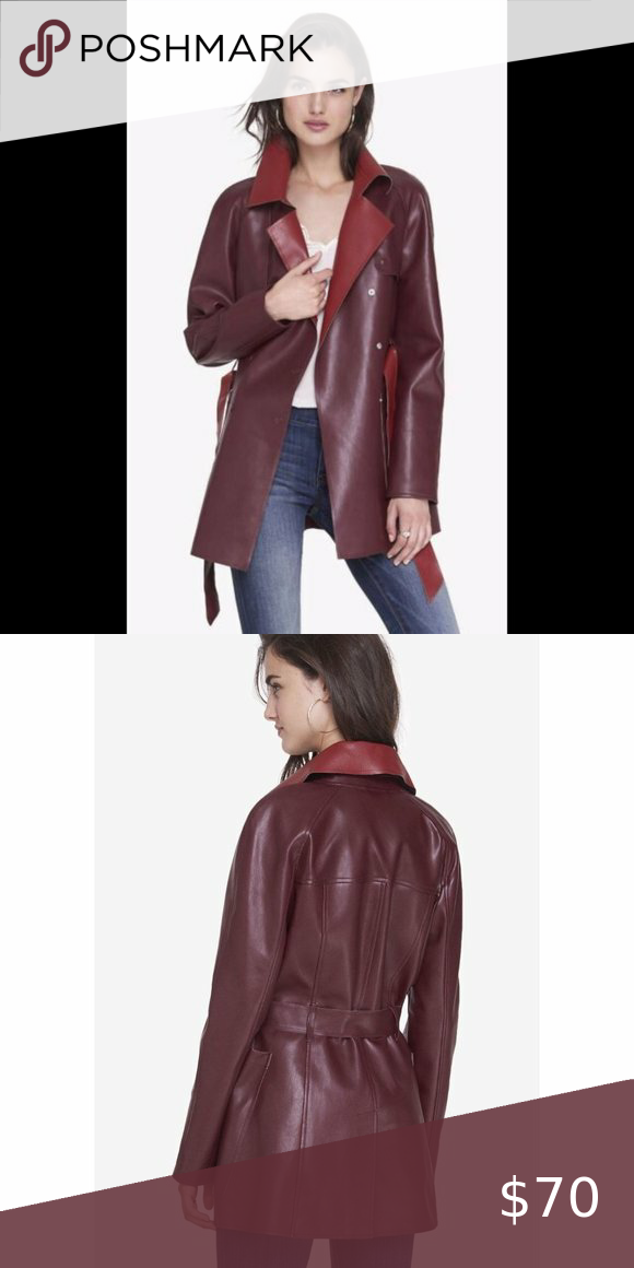 Express Color Block (Minus The Leather) Coat XS
