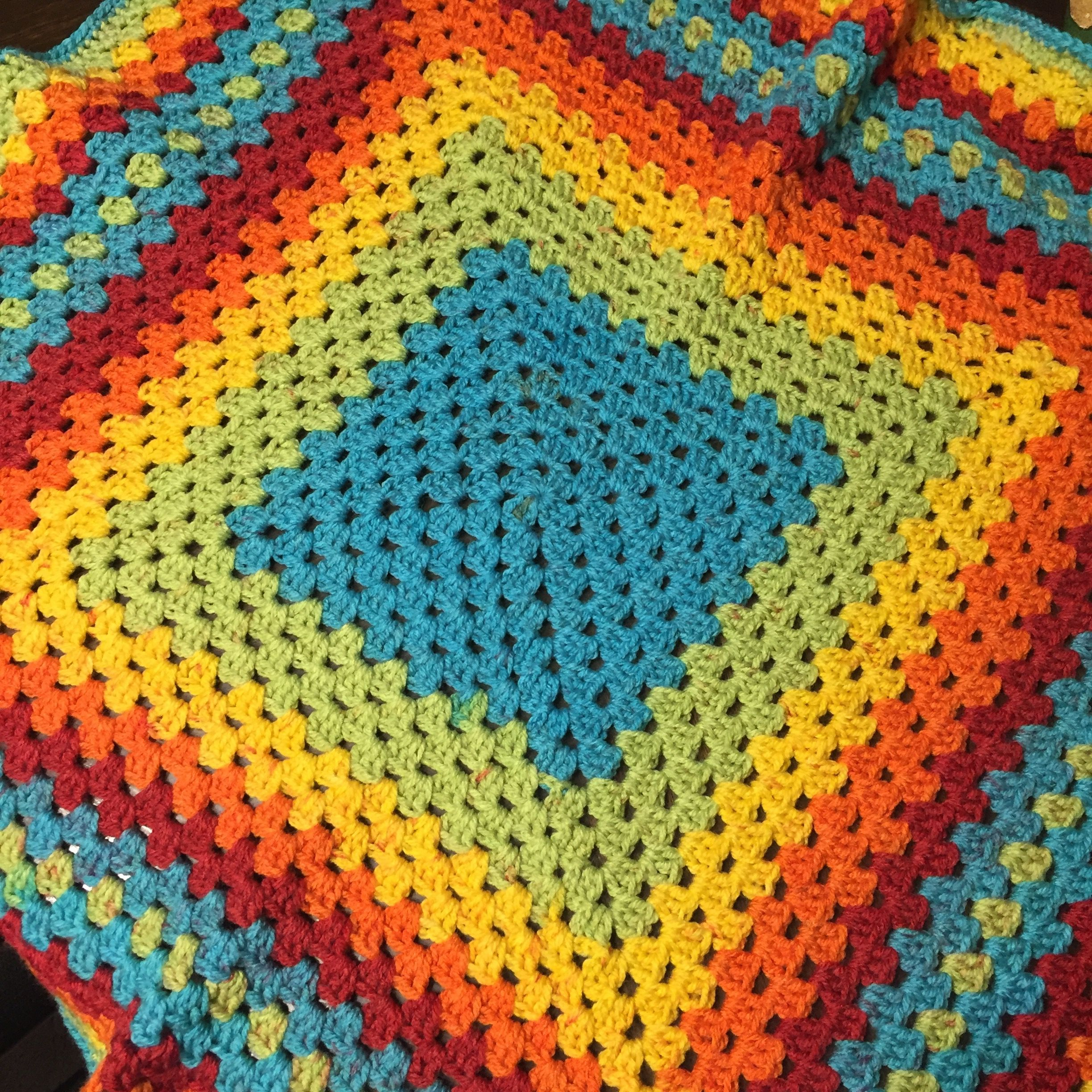 Crocheted baby blanket with Caron Cakes yarn. So excited about this ...
