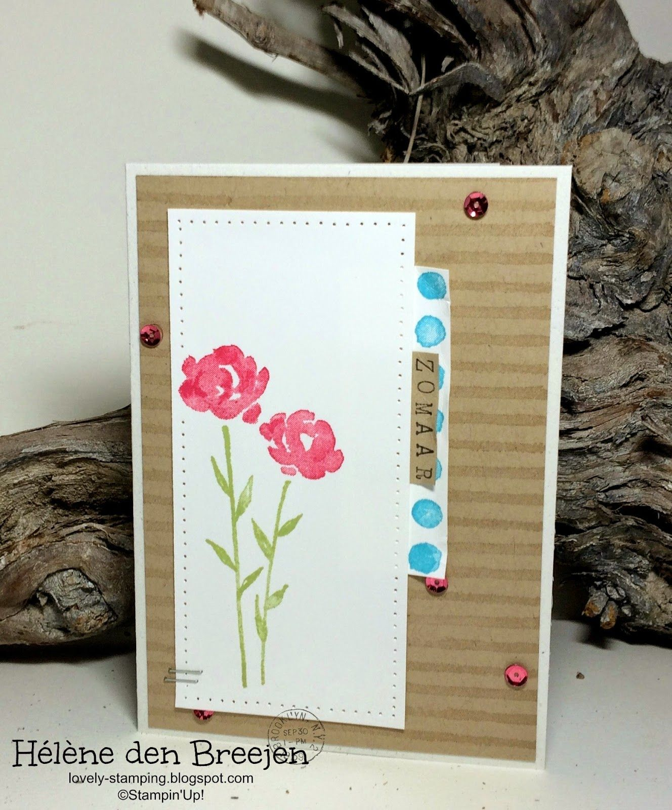 Stampin'Up! YouTube Painted petals part 1