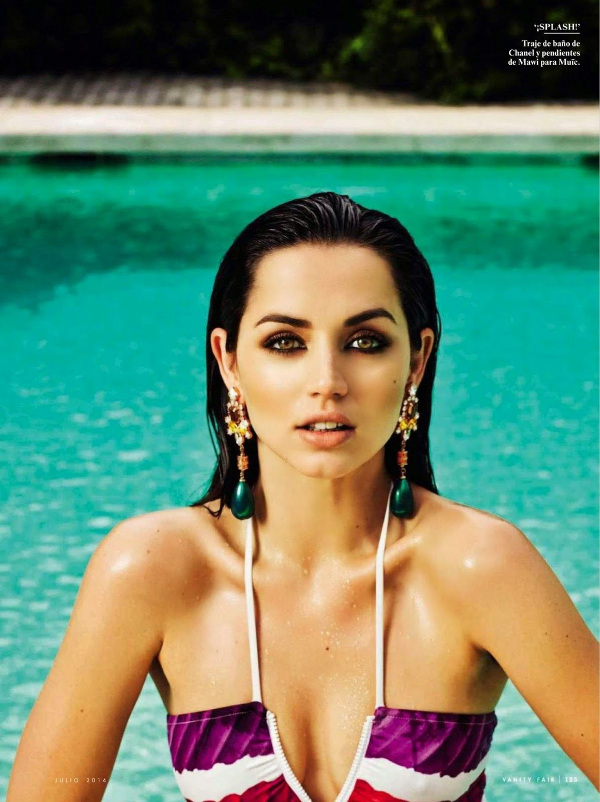Ana De Armas For Vanity Fair Magazine Spain July 2014 Ana De