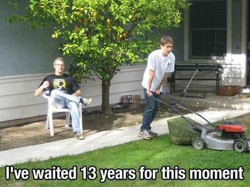 Goodbye Yardwork Dad Humor Funny Picture Gallery Funny Pictures