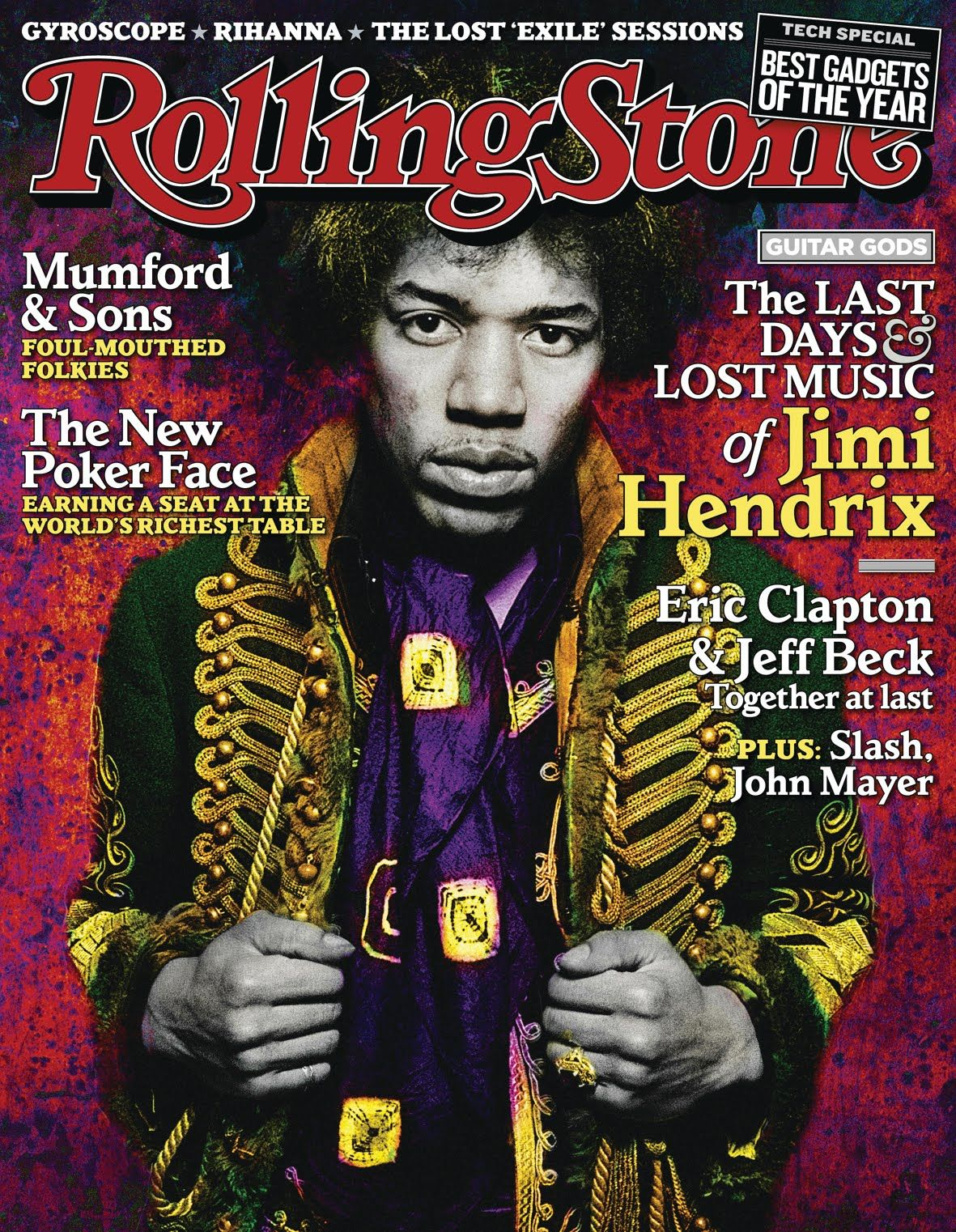 The last days and lost music of Jimi Hendrix, featuring Mumfordand Sons - foul mouthed folkies! Rolling Stone magazine.