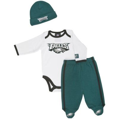 reputable site 76a90 2938a Gerber Philadelphia Eagles Newborn Onesie, Footed Pants and ...