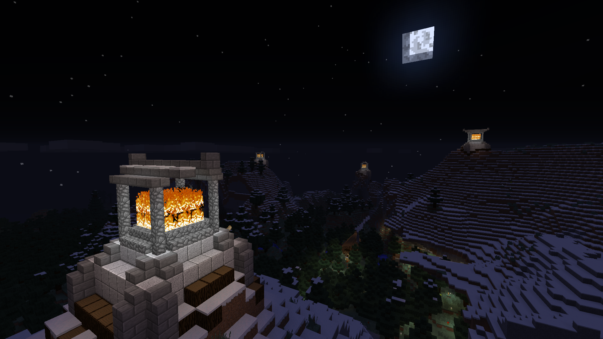The Beacons Are Lit Gondor Calls For Aid Minecraft Gondor Beacon Beacons Of Gondor