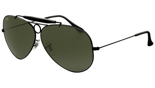 ded9cd9914 Ray Ban RB3138 Shooter Sunglasses-002 Black (G-15XLT Lens)-58mm ...