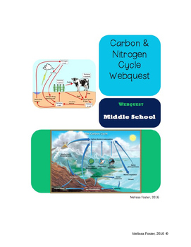 Carbon And Nitrogen Cycle Webquest For Distance Learning In 2020 Nitrogen Cycle Webquest Nitrogen