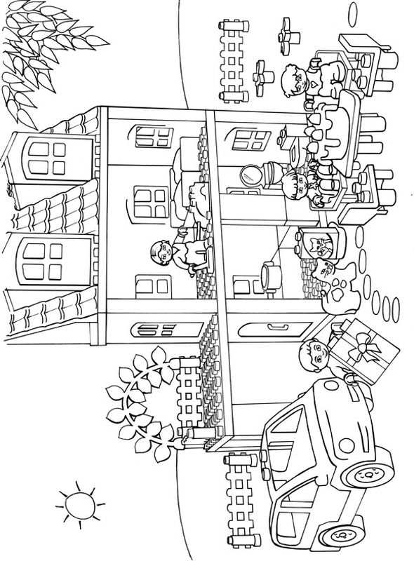 Lego Duplo Coloring Pages Home