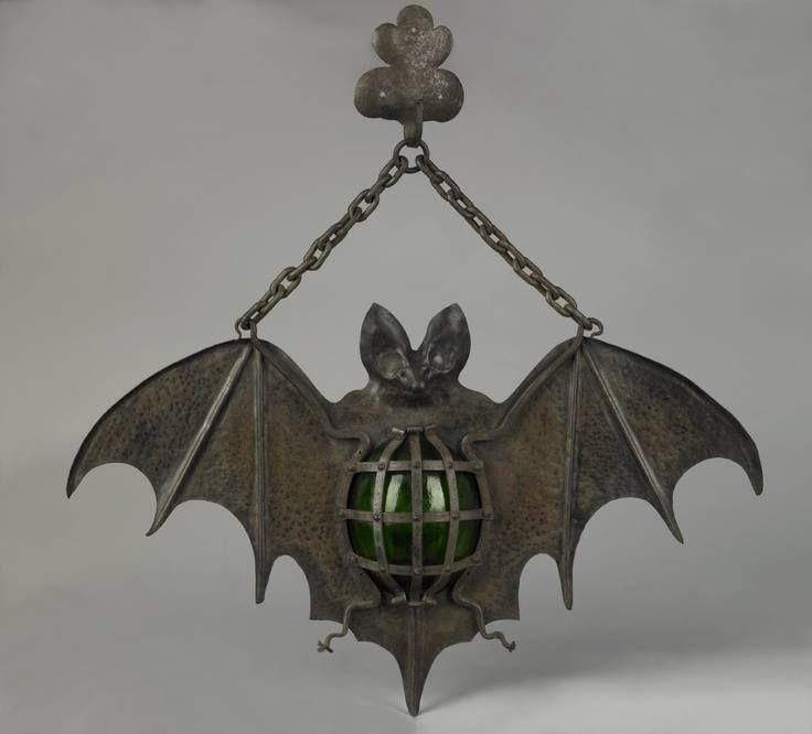 Antique Bat Lamp Circa 1930 Unique Interior Decoration