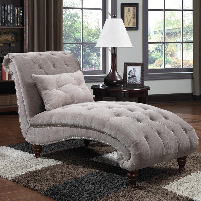Costco UK Ava Nailhead Chaise Furniture, Bedroom