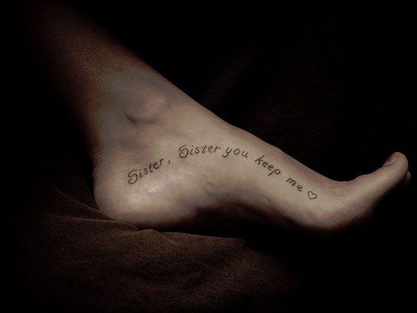 cc5659354 missy foot tattoo 25 Refined Foot Tattoos Quotes | Tattoos ...