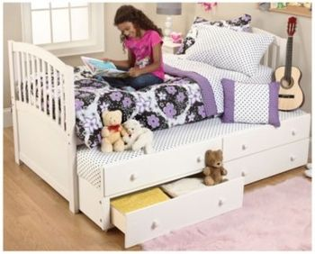Trundle Captains Bed White In Spring Big Book Pt 2 From Fingerhut