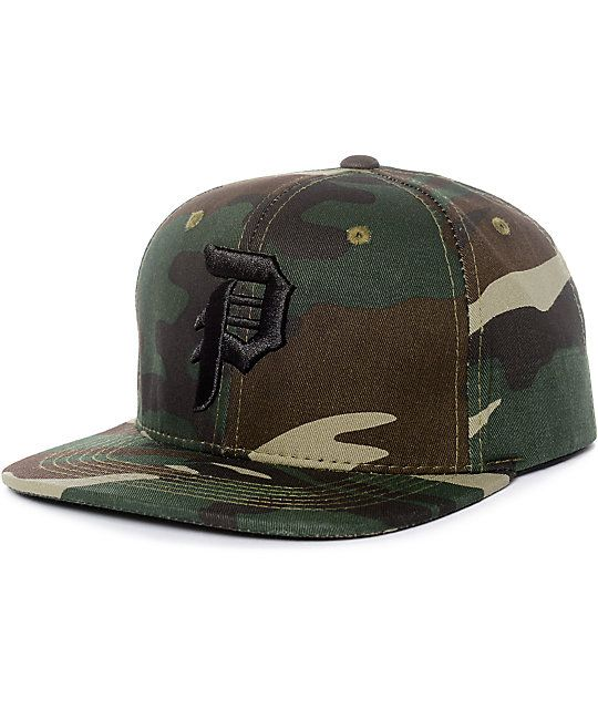 779af848122 Primitive Dirty P Camo Snapback Hat