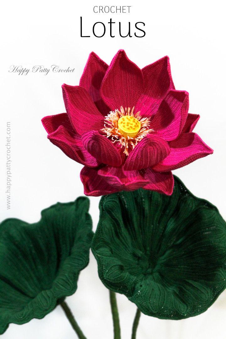 Sacred Lotus Happy Patty Crochet Flower Patterns Designs
