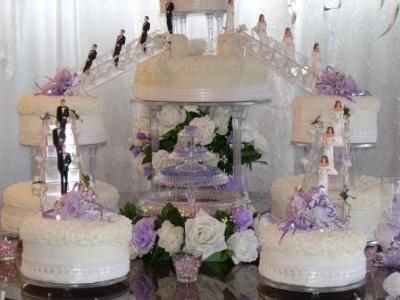 Bridge Wedding Cakes With Fountains Wedding Cake Toppers