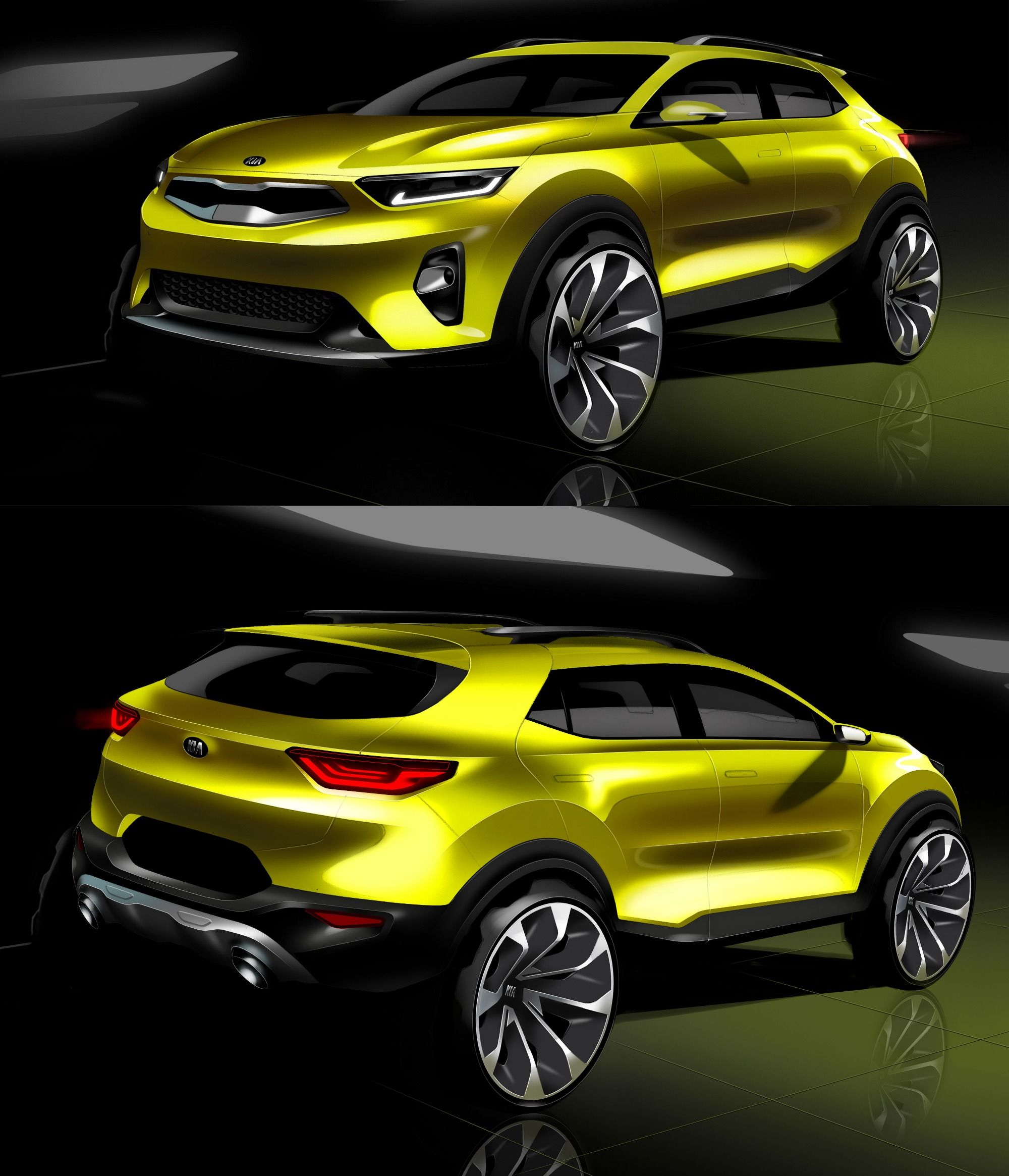 Kia Stonic Compact SUV Rendered Via Official Sketches