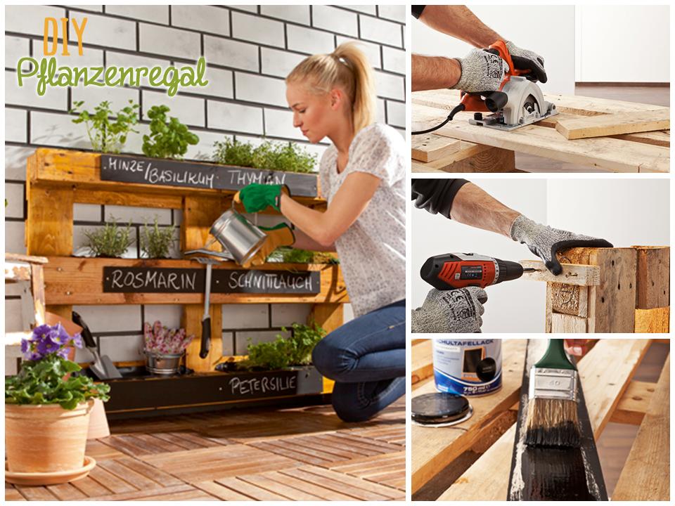 upcycling ist der neueste trend in diy eine alte palette wird zum stilvollen pflanzenregal f r. Black Bedroom Furniture Sets. Home Design Ideas