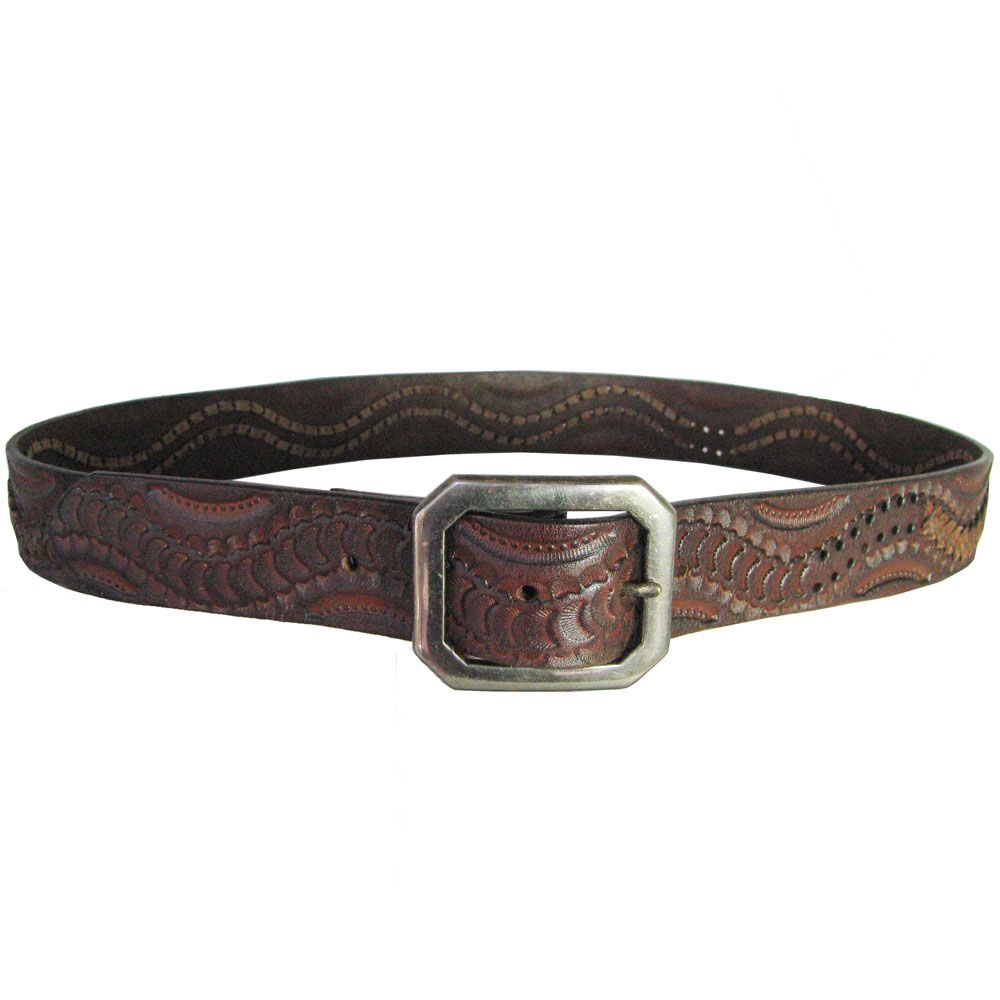 This mens belt by Nocona® is a brown calf hair strap with natural ... 88643274f4f