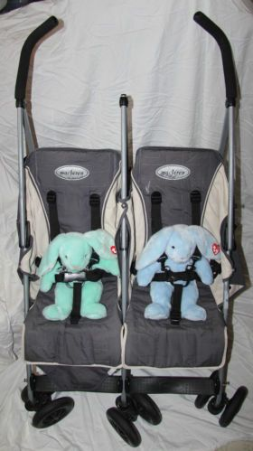 Maclaren Twin Traveller Stroller Charcoal Grey Black Folding Baby Infant Carrier | eBay