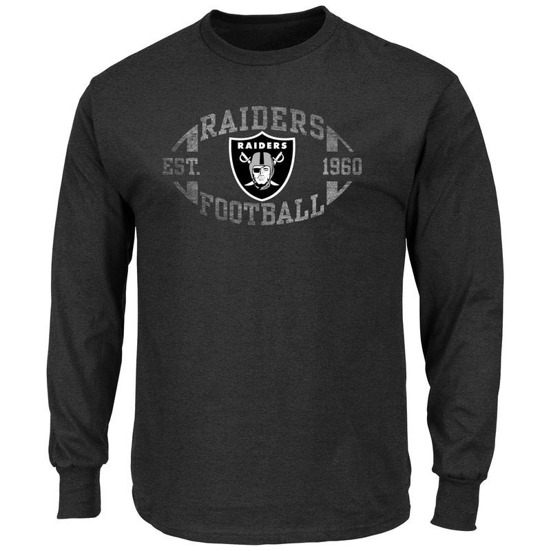 Majestic Our Team Longsleeve Oakland Raiders Charcoal