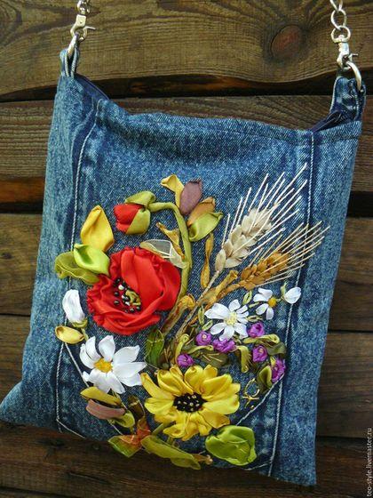 6b1448227d70 Женские сумки ручной работы. Ярмарка Мастеров - ручная работа. Купить  Джинсовая молодежная сумочка -