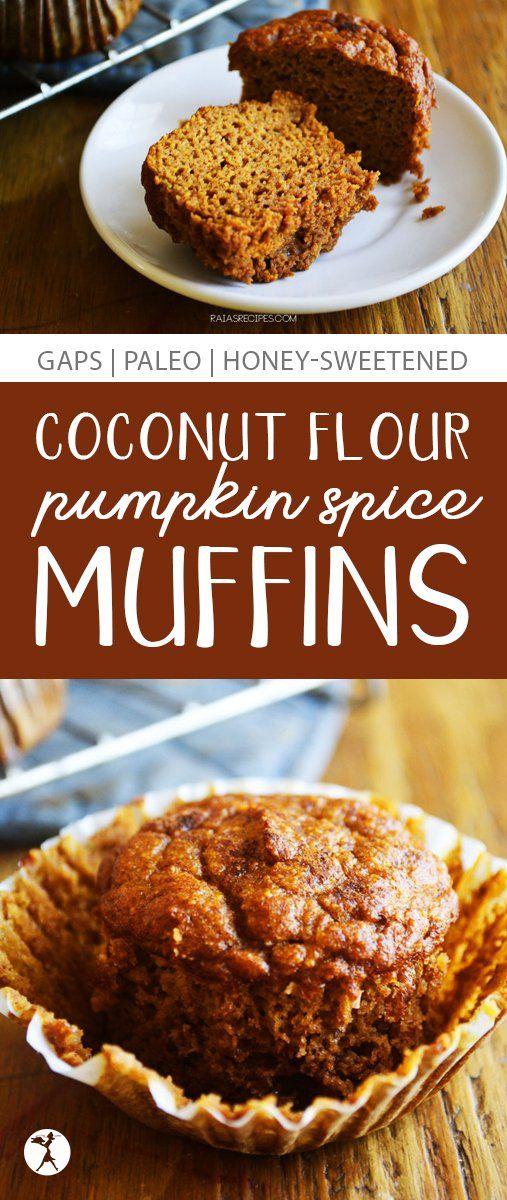Coconut Flour Pumpkin Spice Muffins :: Paleo & GAPS