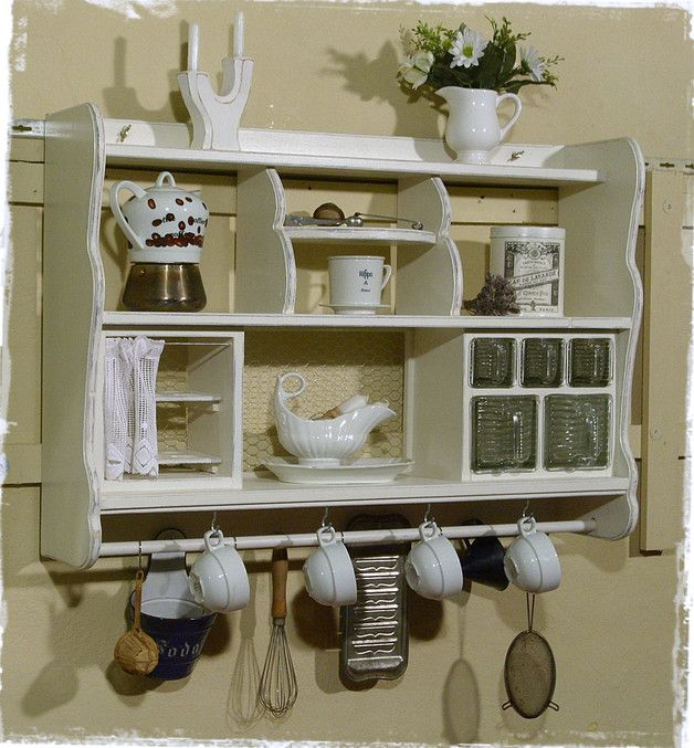 wandregal k che shabby. Black Bedroom Furniture Sets. Home Design Ideas