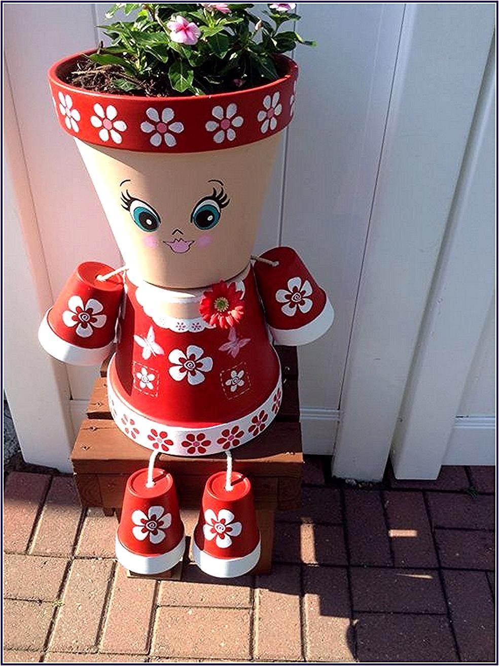 Pot Bunga In 2020 Flower Pot Crafts Clay Pot Crafts