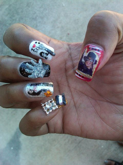 Michael jackson nail art nail art community pins pinterest michael jackson nail art prinsesfo Gallery