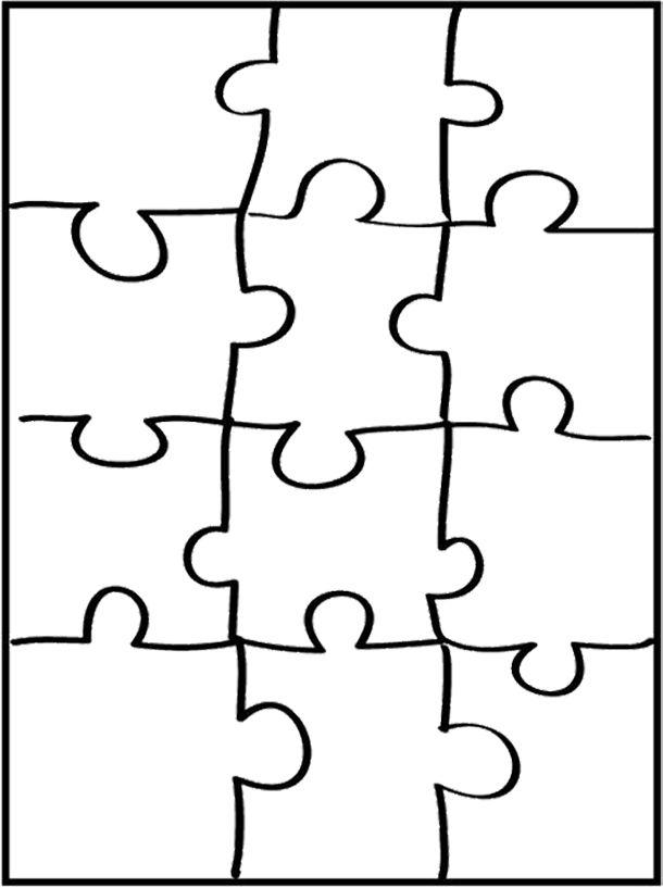 Pin By Dana Kaplanova On Vytvarka Color Puzzle Puzzle Piece Template Puzzle Pieces