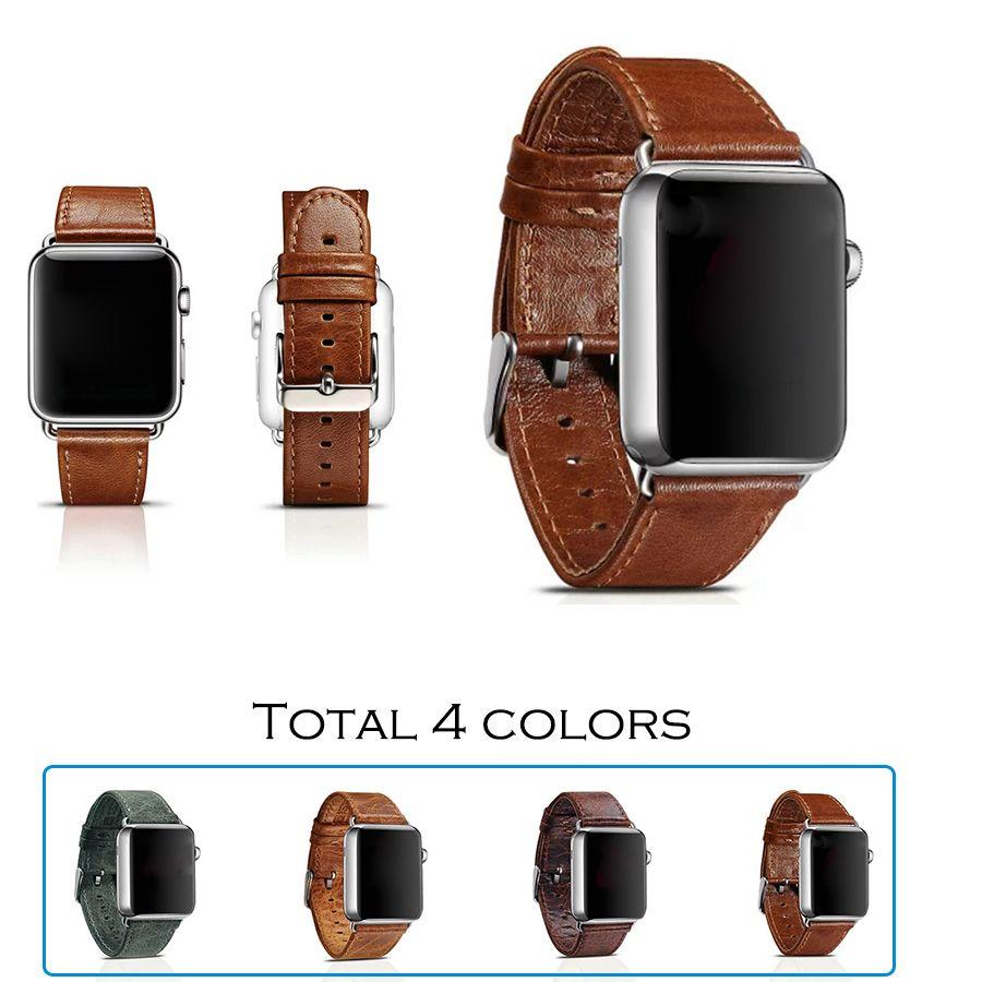35bbd85ddbf Barato Urvoi faixa para faixa de relógio   pulso     cinto de couro  clássico com