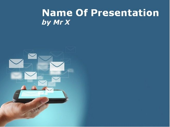 Smartphone and mobile applications Powerpoint Template add - Science Powerpoint Template