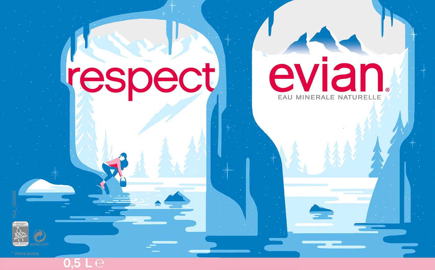 Evian illustrated campaign on Behance