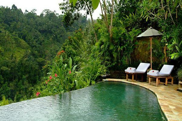 101 bilder von pool im garten - infinity pool bali wald landschaft, Gartengerate ideen