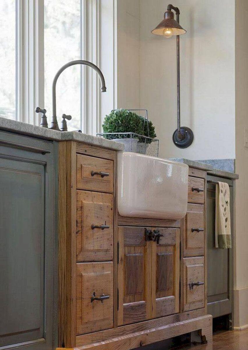 90 Pretty Farmhouse Kitchen Cabinet Design Ideas 93 Farmhouse Kitchen Cabinets Farmhouse Kitchen Decor Home