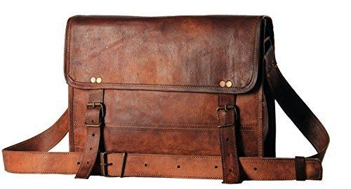 Handmadecart Men's Auth Real Leather Messenger Bags Laptop Briefcase Satchel Mens Bag