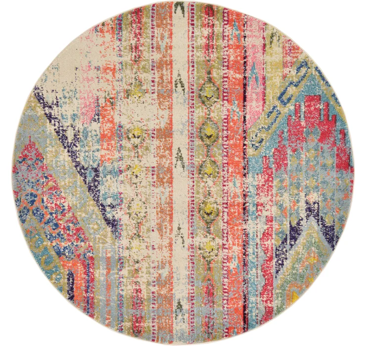 Round Southwestern Rugs Esalerugs Page 2 Colorful Area Rug