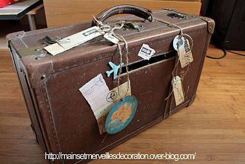 1000 images about urne mariage on pinterest papier mache google and article html - Urne Valise Mariage
