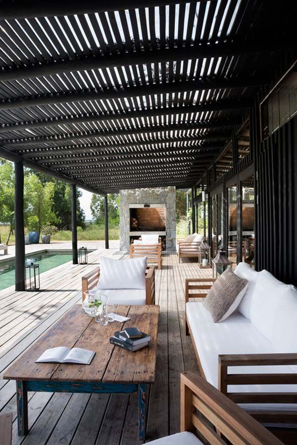 Luxury camp style refuge built for entertaining on the Uruguayan ...