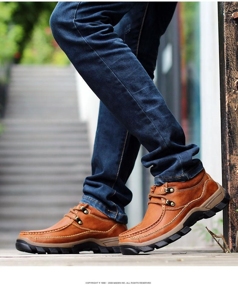Leather shoes men, Casual leather shoes