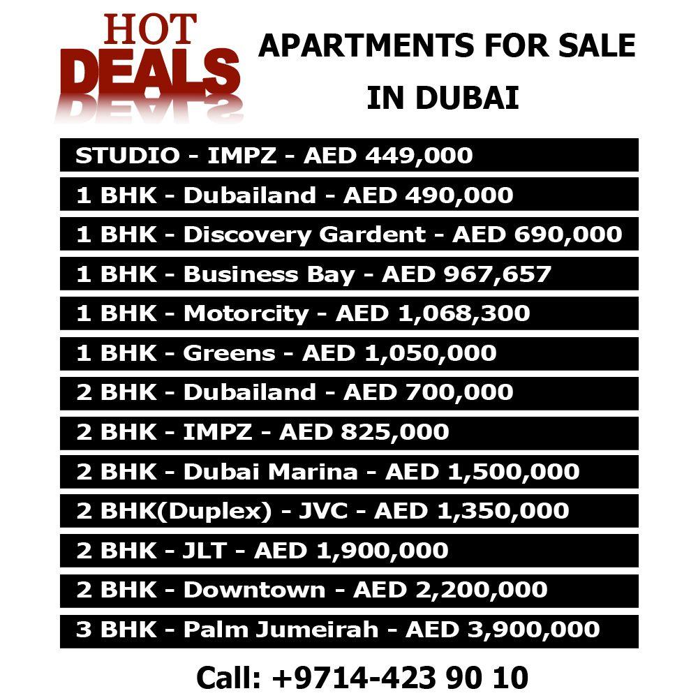 Apartments For Sale, Dubai, Sale