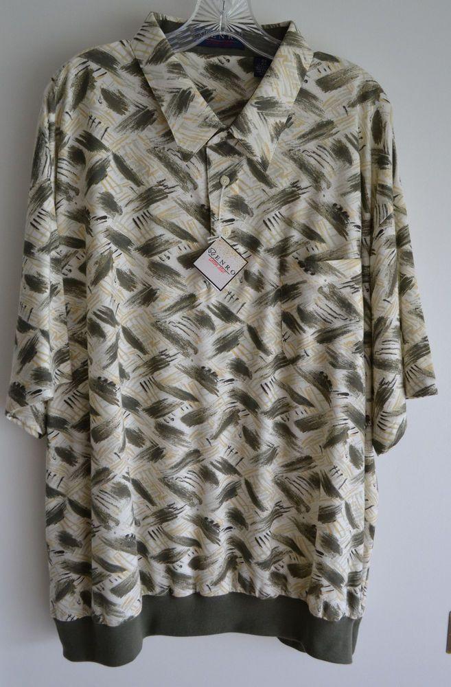 ENRO Men's Golf/Polo Shirt-BIG & Tall  Man's SZ: 4XL Greens and off white colors #EnroCottonMist #Polo http://cgi.ebay.com/ws/eBayISAPI.dll?ViewItem&item=331244576590&ssPageName=STRK:MESE:IT