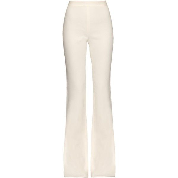 Giambattista Valli Flared wide-leg crepe trousers ($751) ❤ liked on  Polyvore featuring