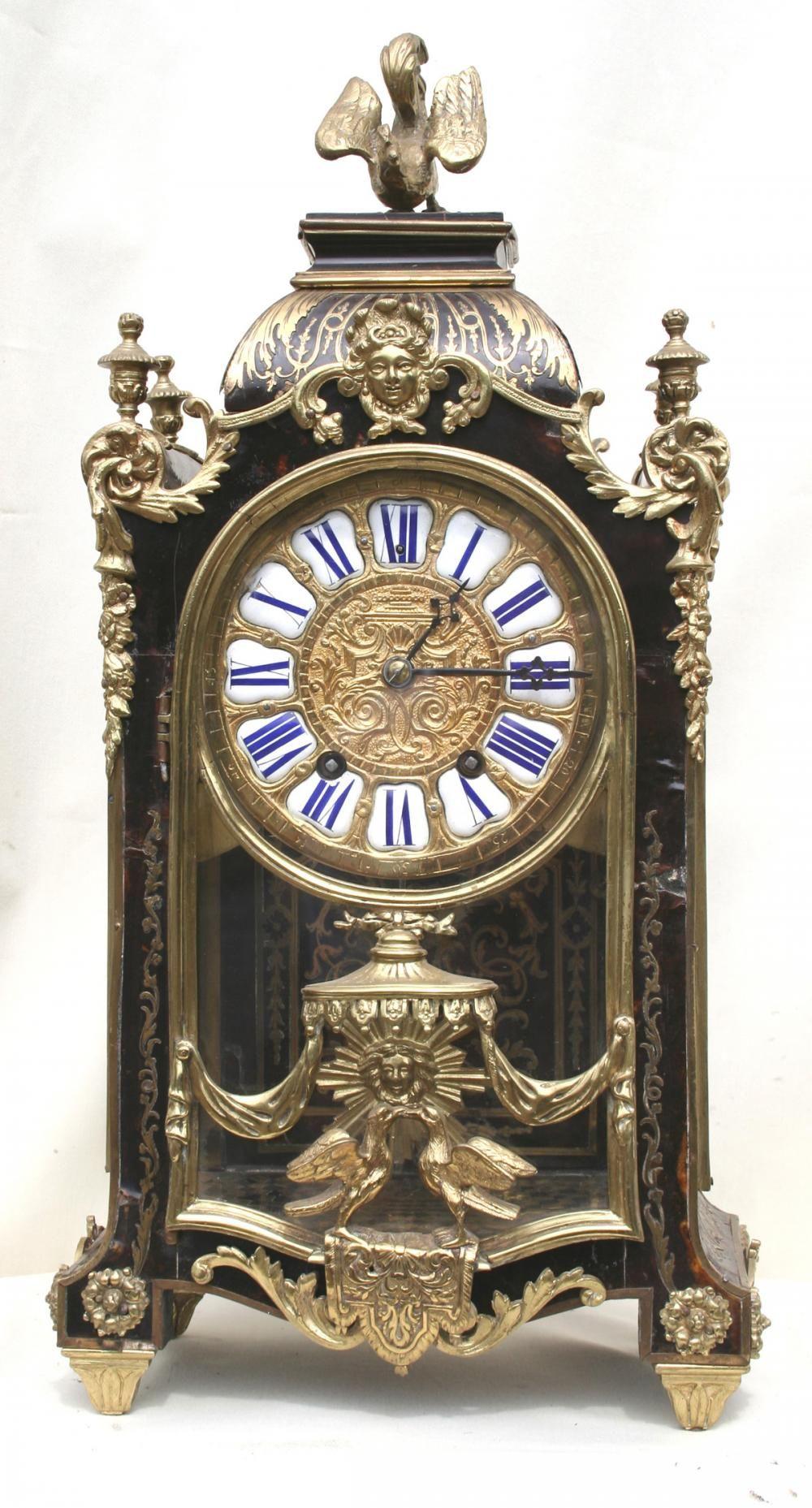 A Small Tortoiseshell Clock Signed Dumoulineuf Paris C 1810